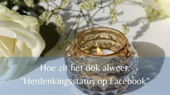 Herdenkingsstatus Facebook_Eindelijk Geregeld